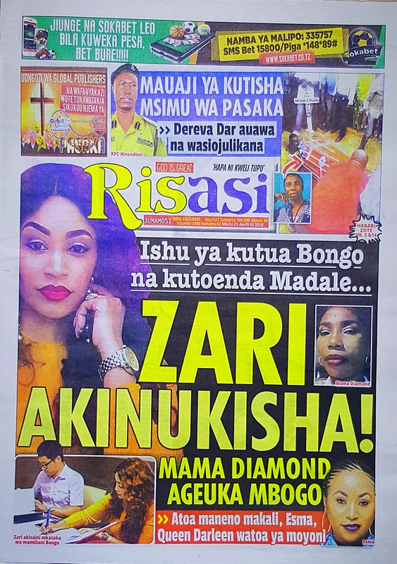 Habari kubwa za Magazeti ya Tanzania leo March 31 2018 Udaku, Michezo na Burudani