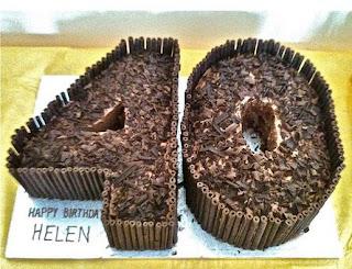 kue ulant tahun coklat angka