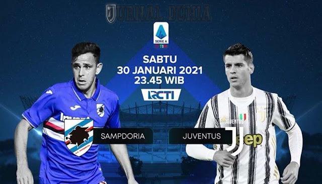Prediksi Sampdoria vs Juventus , Minggu 31 Januari 2021 Pukul 00.00 WIB @ RCTI