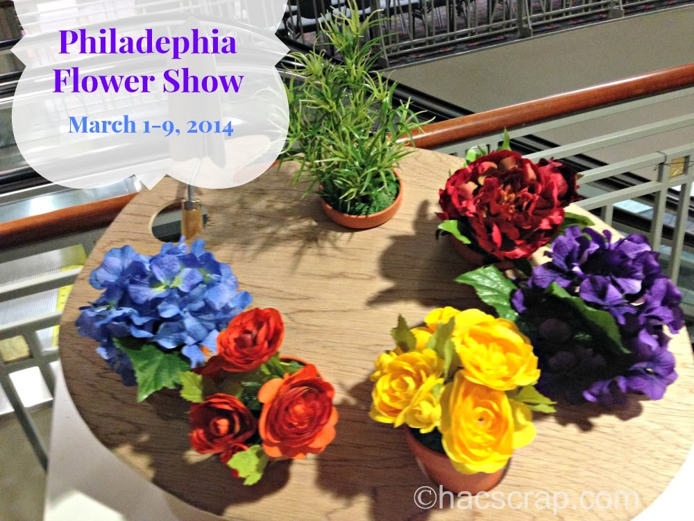 Palatte of flowers from Philadelphia Flower Show