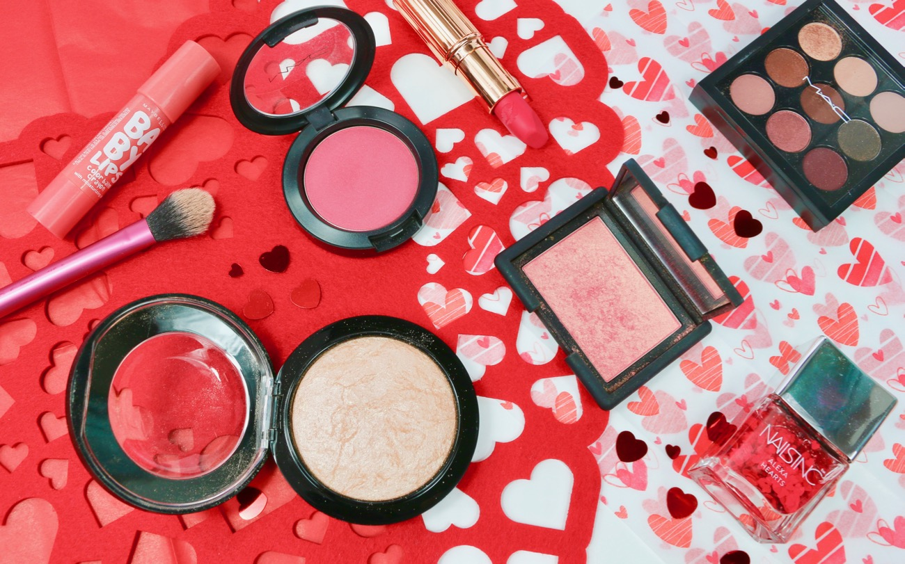Valentine's Day Makeup Picks MAC Dollymix Blush, NARS Orgasm Blush and MAC Soft & Gentle Highlighter