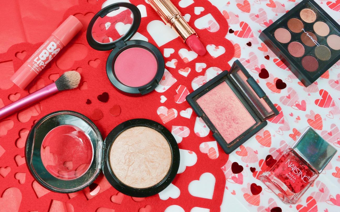 Valentine's Day Makeup Picks MAC Dollymix Blush, NARS Orgasm Blush and MAC Soft & Gentle Highlighter