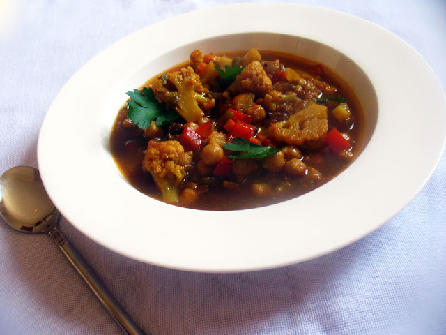 Chickpeas with Mixed Vegetables and Berbere Sauce