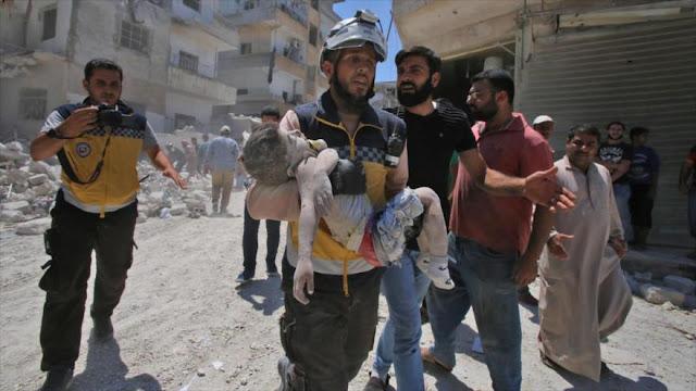 Cascos blancos planean ataque en Idlib que implica a 200 personas
