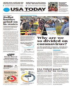 USA Today Magazine 20 To 22 November 2020 | USA Today News | Free PDF Download