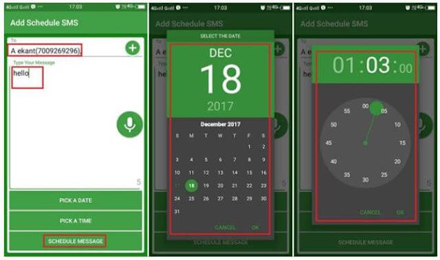 طريقة, جدولة, الرسائل, القصيرة, SMS, وإرسالها, تلقائياً, فى, وقت, مُعين