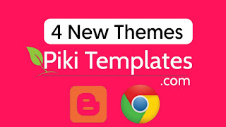 4 New Launched Piki Blogger Templates For Blogspot Users - technicalqna