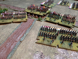 The French lose a brigade as another falls back in retreat