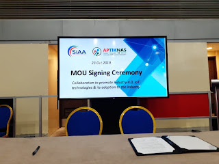 MoU APTIKNAS - SIAA - 23 Oktober 2019 di ITAP 2019