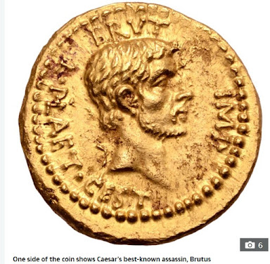Rare Gold Coin Of Julius Caesar's Assasination Resurfaces After 2000 Years (Pix)