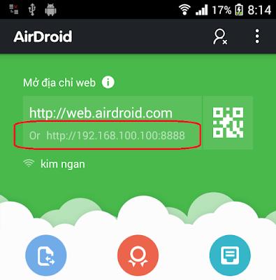 Cách copy file từ máy tính sang điện thoại và từ điện thoại vào máy tính bằng 3G - Wifi