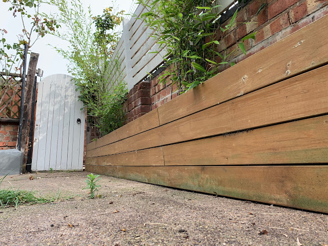 DIY raised bed made from decking