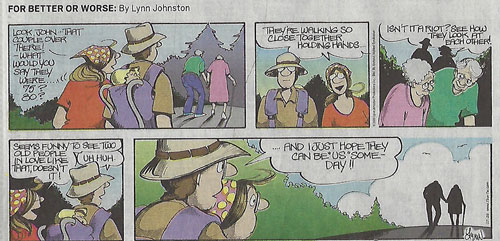 "Hmm, who is the ""us"" in this cartoon? (Source: Lynn Johnston, OC Register, 07/26/20)"
