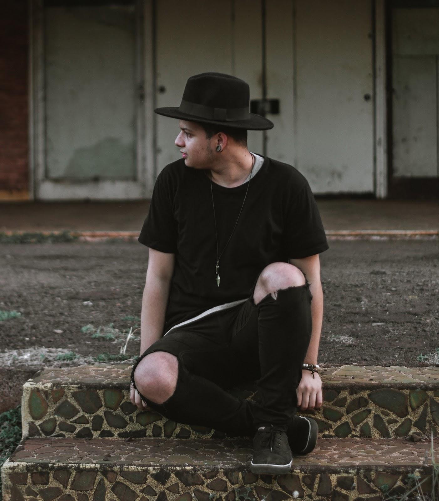 chapéu fedora masculino preto