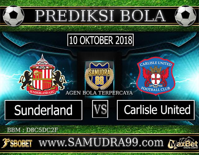 PREDIKSI TEBAK SKOR JITU SUNDERLAND VS CARLISCE UNITED 10 OKTOBER 2018