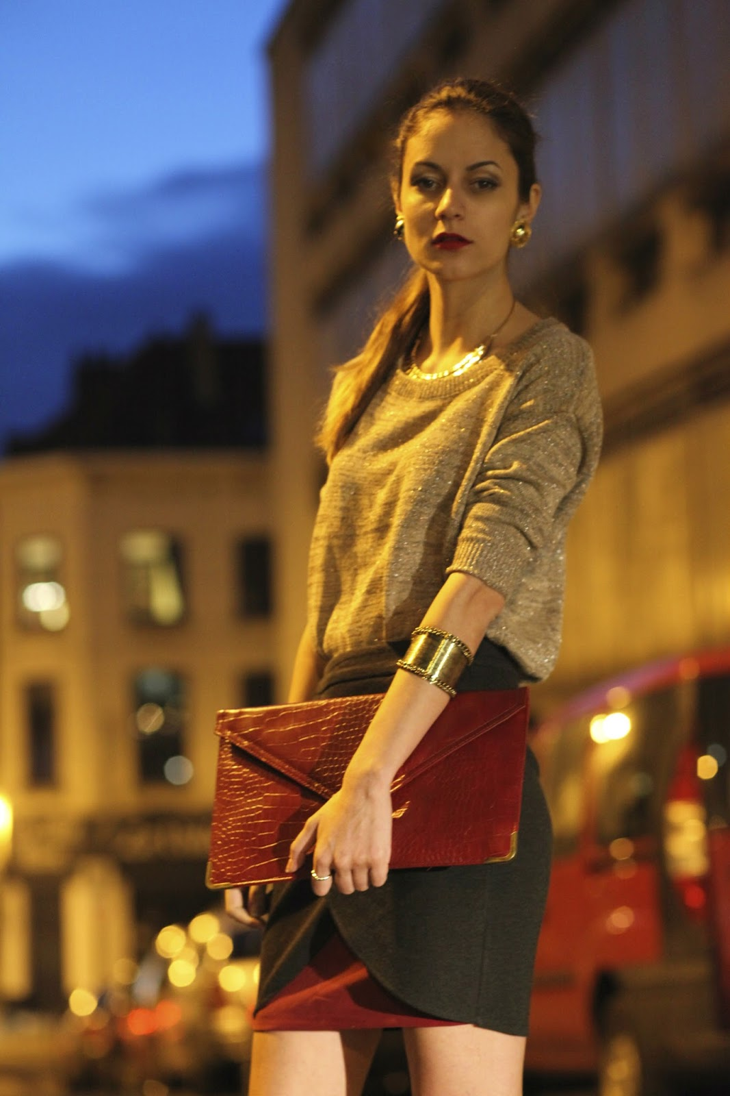 Evening Stroll Sacha Pumps And Asos Clutch From Brussels With Kate Spade Maise Swan Embossed Wing Hi Guys