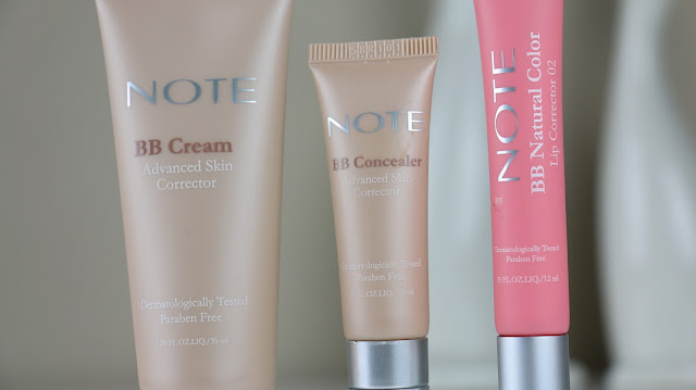 note cosmetics, bb cream, bb concealer, concealer, lip gloss,