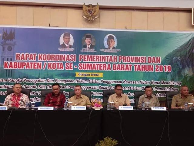 Saat Rakor Pemerintah Daerah, Gubernur Irwan Tekankan  Pentingnya Menjaga Kawasan Hutan