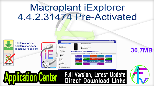 Macroplant iExplorer 4.4.2.31474 Pre-Activated