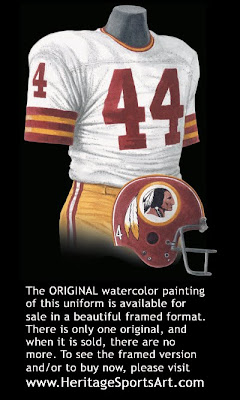 Washington Redskins 1973 uniform