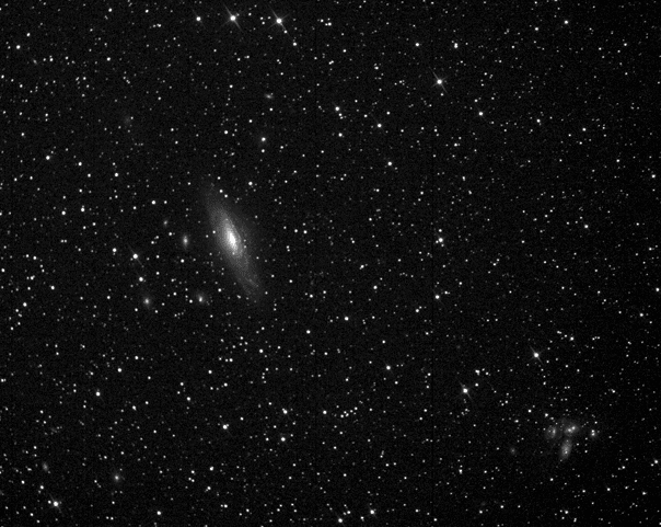 "NGC 7331 (also known as Caldwell 30). 60-second exposure taken with the ATEO 16"" Dream Astrograph.  The Stephan's Quintet group of galaxies can be seen to the lower right of the image."