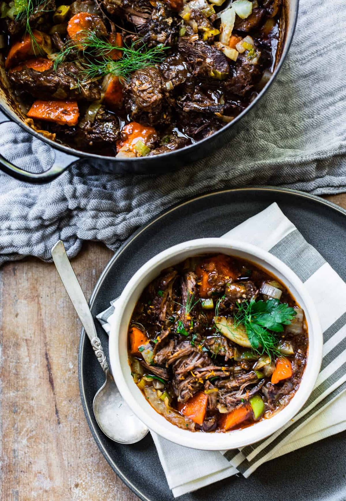 SLOW-COOKED RED WINE BEEF STEW #dinner #cooking