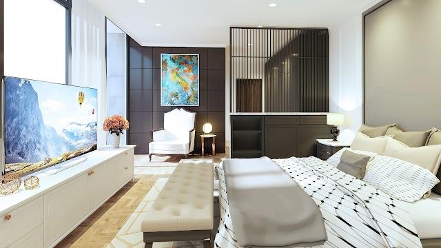 Nội thất phòng ngủ kiểu hoàng gia kèm model 3d SU