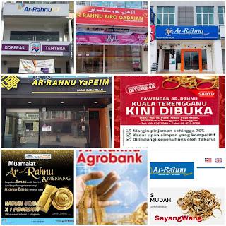 SENARAI AR-RAHNU PAJAK GADAI ISLAM BANK RAKYAT ARRAHNU XCHANGE YAPEIM