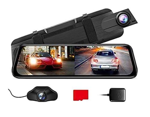 AZDOME PG02S 2.5K Night Vision Mirror Dash Cam