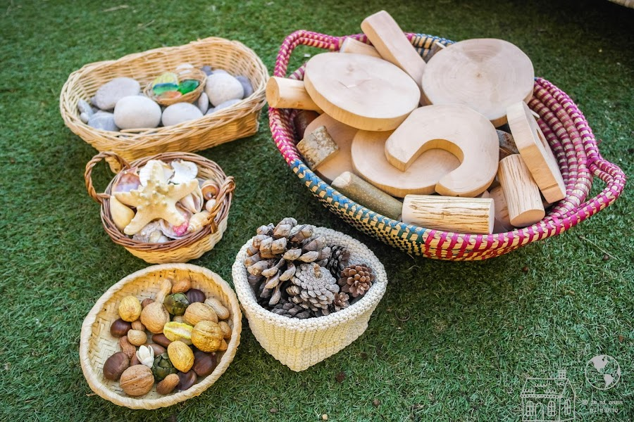 cestas elementos naturales waldorf