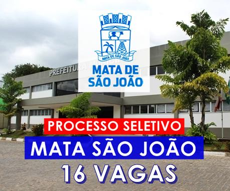 Concurso Prefeitura de Mata São João BA 2018