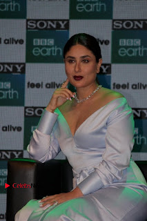 Bollywood Actress Kareena Kapoor Stills in Beautiful Silk Long Dress at Sony BBC Earth New Channel Launch  0005.jpg