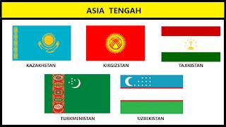 Bendera Negara Asia Tengah