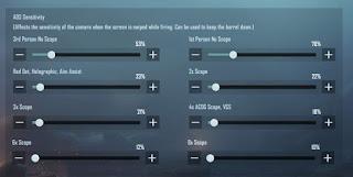Genj1 Gaming's sensitivity settings