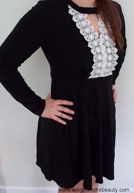 rosegal Keyhole Crochet Swing Dress