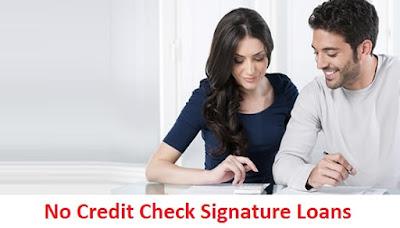 Need A Signature Loan