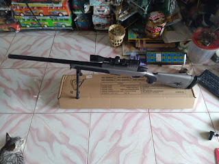 Review Unit Water Gel Gun Sniper M40 (Tipe Spring)