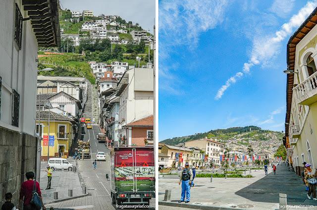 Ladeiras no Centro Histórico de Quito