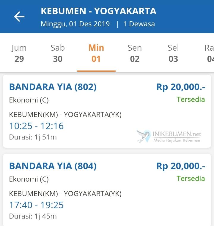 Ini Jadwal Keberangkatan KA Bandara YIA dari Kebumen