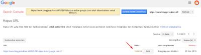 Cara Mengahpus index google