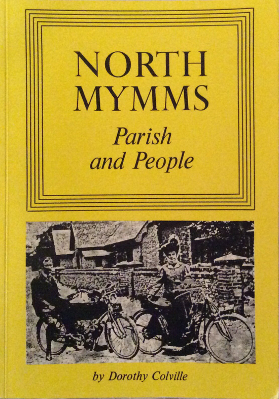 A scan of the cover of the book North Mymms Parish And People by Dorothy Colville