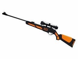 Armas de caza en tienda