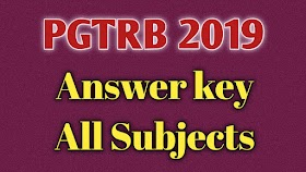 PGTRB ALL SUBJECTS Answer key 2019