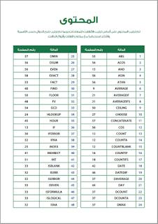 تحميل - تنزيل كتاب الدالات الأساسية في برنامج الاكسل كامل | Excel Formulas pdf ( شرح اكثر من 100 داله للاكسيل للمهندسين وغيرهم )