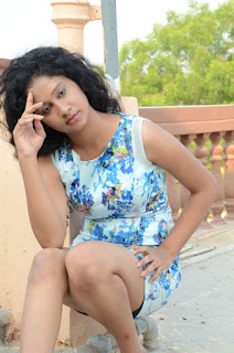 Actress Priyankha Stills in Floral Short Dress at Golmal Gullu Movie Pressmeet 0269.JPG