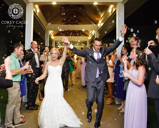 bubble wedding exit | Corey Cagle Photography
