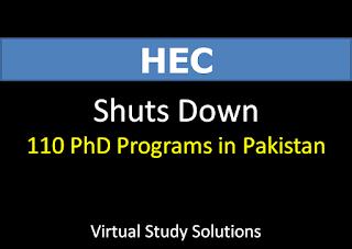 HEC Shuts Down 110 PhD Programs in Pakistan