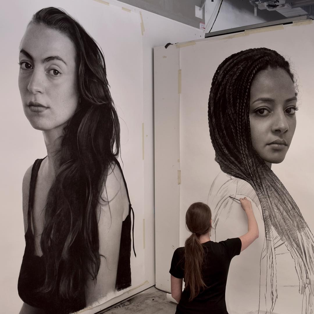 06-Clio-Newton-Enormous-Gigantic-Realistic-Charcoal-Portraits-www-designstack-co