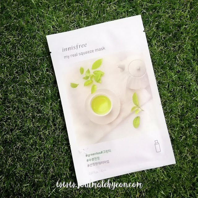 Review; Innisfree's My Real Squeeze Mask Green Tea Year 2018 version