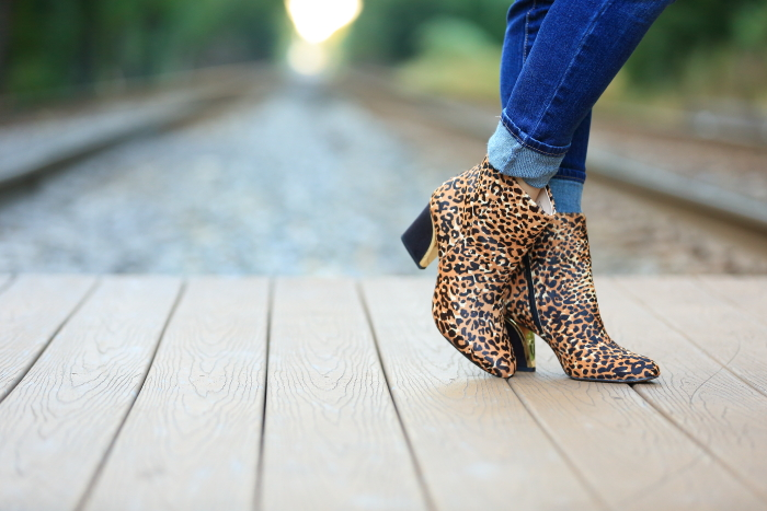 nine west animal print boots